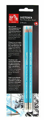 Caran D'Ache Sketcher - Non Photo Blue Pencil - Pack of 2