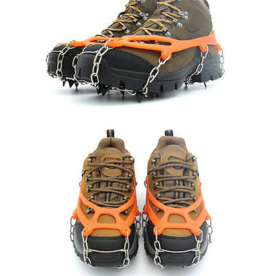 Ice Snow Climbing Gripper Anti-slip Shoe Covers Spike Cleats Crampons 8 Teeth