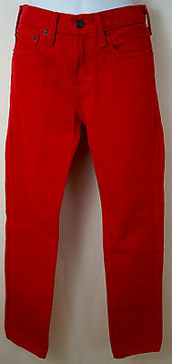 ABERCROMBIE & FITCH KIDS Boys Red 100% Cotton Trousers Jeans Pants 16 Slim Fit