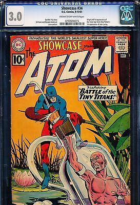 SHOWCASE #34 CGC 3.0 Origin & 1st SA Atom (Ray Palmer)!
