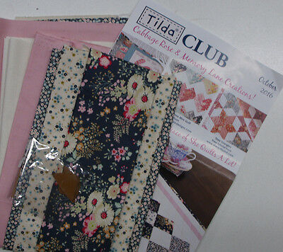 Tilda Club OCTOBER 2016 Quilting Sewing Fabric Single Issue Patchwork Craft Kit