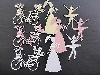 Mixed die cut images~card making/scrapbooking.