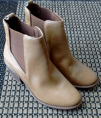 INC International concepts brown and gold genuine leather boots NEW size 6.5 M