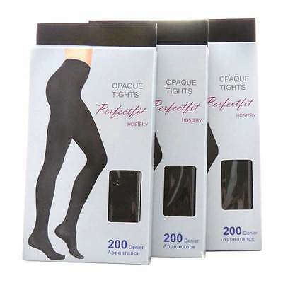 Quality 200 Denier Matte Opaque Tights ( 2 PAIRS!!)  Women's Pantyhose