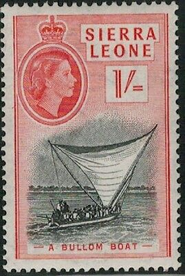 Lot 3727 - Sierra Leone - 1956 1s red and black Queen Elizabeth II MVLH stamp