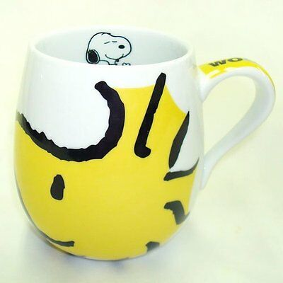 New Bone China Coffee Mug Vintage SNOOPY Peanuts Woodstock Yellow Face Tea Cup