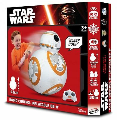 Star Wars BB-8 RC Radio Controlled Inflatable Toy with Sounds 43cm - NEW