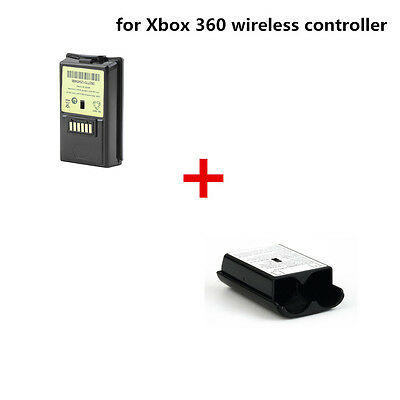 4800mAh Rechargeable Battery+Battery Shell Shield Case For Xbox 360 Controller F