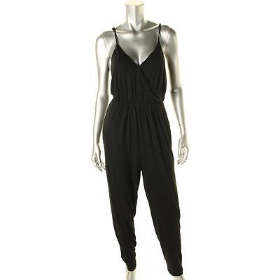 ef26a51ac43 Minkpink 7459 Womens Serenity Black Knit V-Neck Jumpsuit S