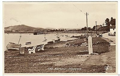 KIPPFORD HARBOUR -  Kirkcudbright - 1950s era used postcard