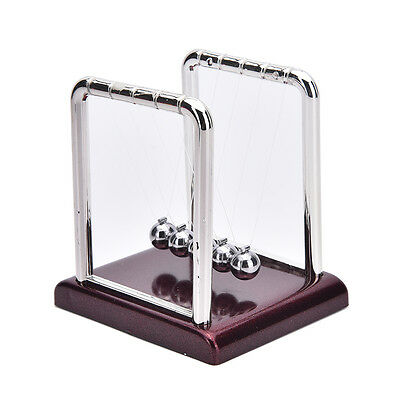 Newton Cradle Steel Balance Ball Physics Science Pendulum Desk Fun Toy Gift Red