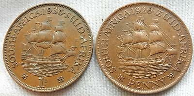 South Africa, 2, 1926/36, One-Penny Coins