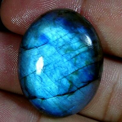 42.75Cts. 100% NATURAL AFRICAN BLUE LABRADORITE OVAL CABOCHON QUALITY GEMSTONES