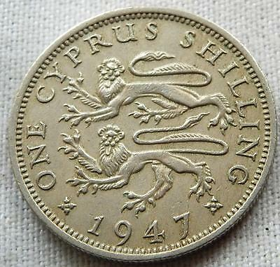 Cyprus, 1947, One Shilling Coin,