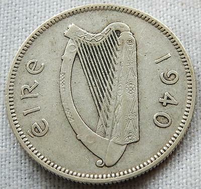 Ireland, 1940, Silver One Shilling Coin