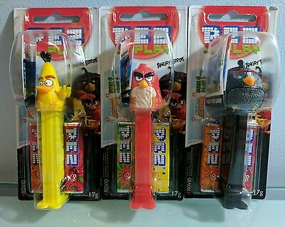 Angry Birds the Movie Pez Dispensers x 3