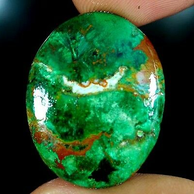 38.20Cts. 100% NATURAL GREEN MALACHITE CHRYSOCOLLA OVAL CABOCHON SUPER GEMSTONES