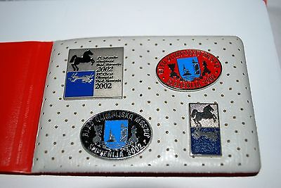 35th CHESS OLYMPIAD SLOVENIJA - 4 PINS/BADGES *BLED 2002 - 4 STÜCK IN ETUI *