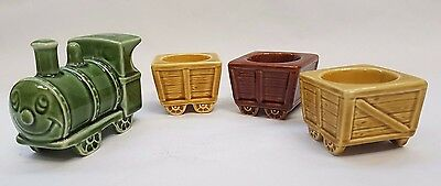 Vintage Sylvac Train and Egg Cup Carriages Models: 5479 & 5478
