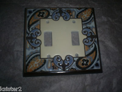 2 vtg PAISLEY  LIGHT SWITCH  COVER paisley double & single LIGHT SWITCH lot