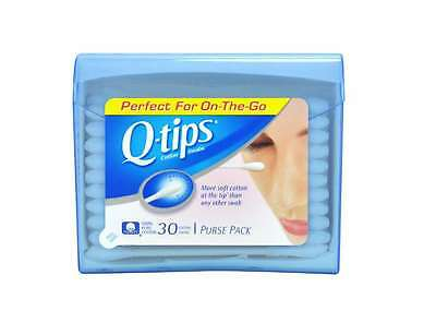 Q, Tips Cotton Swabs, 30 ct., Travel Size Purse ct (Quantity of 5), New Beauty