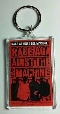As-Is Ratm Rage Against The Machine Red Group Band Black Key Chain Keychain