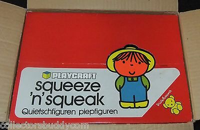 2 VINTAGE c1970s PLAYCRAFT SQUEEZE N SQUEAK BABY TOYS WITH EX SHOP DISPLAY BOX