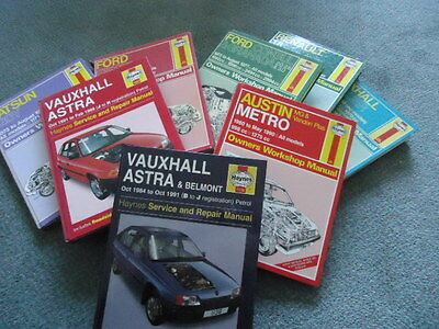 collection of Haynes' manuals