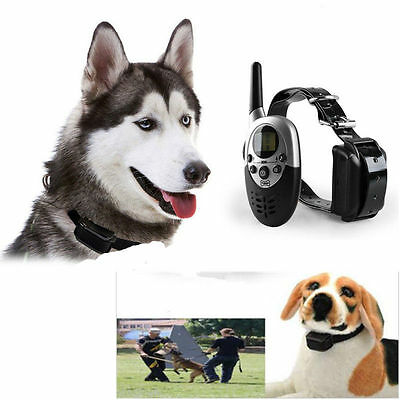 New 1000M LCD Electric Shock Dog Training Remote Control E-Collar Rechargeable