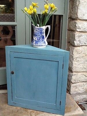 Edwardian corner cupboard for wall mounting