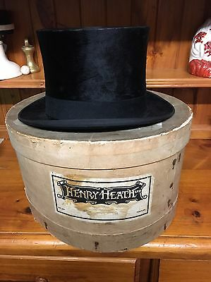 Antique Lincoln Bennett Silk Top Hat/ by appointment HM king and prince of wales