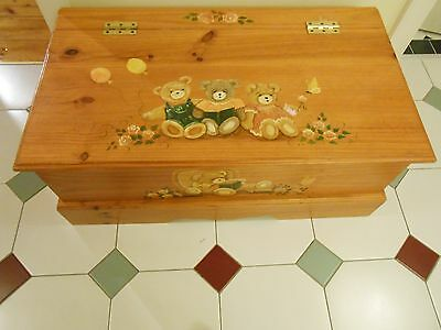 Hand Painted Baltic Pine Toy Box