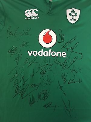 Ireland Rugby Signed Shirt *historic 1St Win Over All Blacks 2016*+Photo Proof