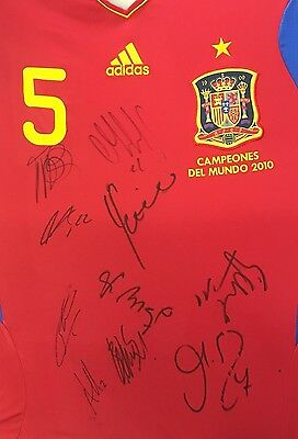 Spain Signed World Cup Winners Football Shirt 2010 *extremely Rare*