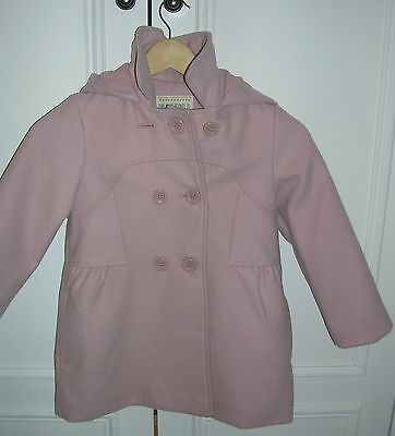 M&S Pale Pink Girls Coat / 6-7 Years