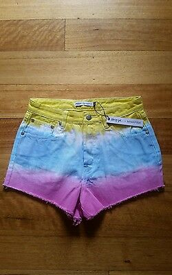 Womens/ teens nasty gal and mink pink tie dye shorts size S