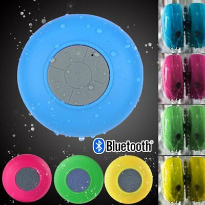 Mini Wireless Bluetooth Waterproof Speaker Handsfree Mic Suction Shower Bathroom