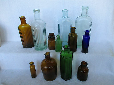 Selection Of British Poison Bottles