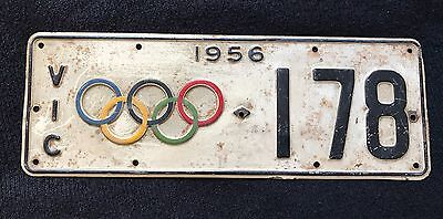 1956 Melbourne Olympics Number Plate - MASSIVELY RARE - OLYMPIC MEMORABILIA