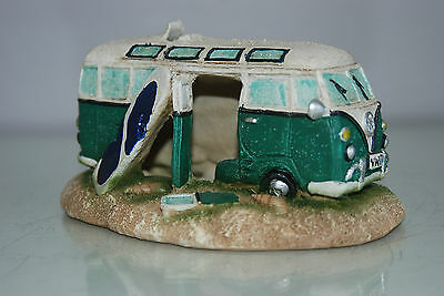 Aquarium VW Camper Van Pale Green Decoration 15.5 x 9.5 x 8 cms