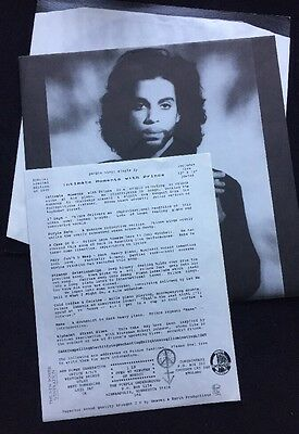 Prince Intimate Moments Purple Vinyl Limited Edition RARE