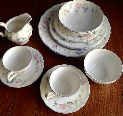 M&S Camilla fine bone china tea & dinner set for 2 plates/bowls/cups/saucers