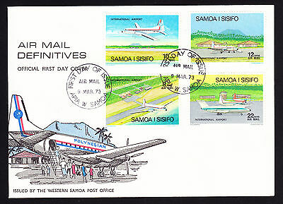 Samoa Air Mail Definitives Aeroplanes Plane Travel First Day Cover FDC 1973 FDI