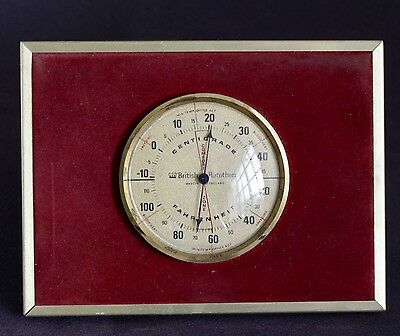 VINTAGE L.E.P. ANTIQUE BRITISH ROTOTHERM ROOM THERMOMETER desk or mantle ENGLISH