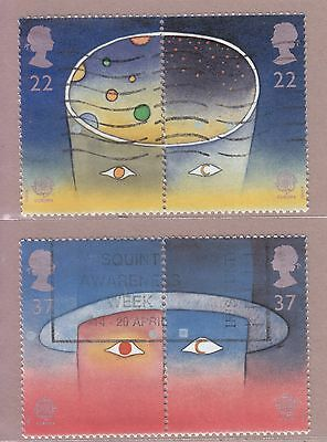 Great Britain 1991 Set Of 4 Used Stamps