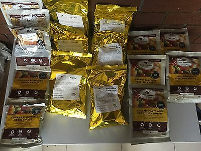 16 Wise Food Assorted Lot Emergency, Camping & Survival MREs