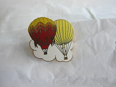 Hot Air Balloon Badge Two Balloon One Red One Yellow