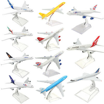 16Type Planes Model Diecast Aircraft Models Airlines Kit Kid Toy Adult Gift 16CM