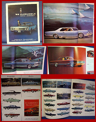 1965 OLDSMOBILE Automobile Color Sales Catalog Brochure - New Old Stock