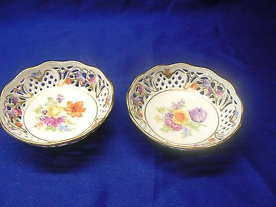 """Schumann Arzberg Germany Dresden Line 4"""" Pin/Candy Dishes-2 Dishes"""
